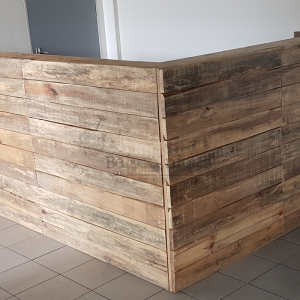 pallet furniture bar, pallet furniture reception desk, reception desk 2, reclaimed timber furniture , pallet desk 7, online pallet bar Johannesburg