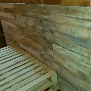 pallet furniture head board, wood head boards, reclaimed wood head board, pallet head board 1,16, pallet headboard Johannesburg