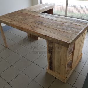 Pallet table L shape 1, pallet work desk, pallet table L shape, reclaimed timber table Johannesburg 6, online office furniture Johannesburg